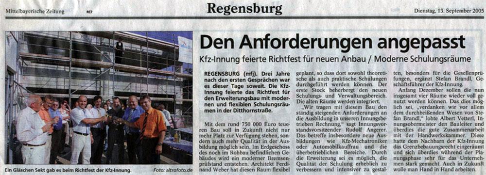 architekturb ro ferdinand weber regensburg presse. Black Bedroom Furniture Sets. Home Design Ideas